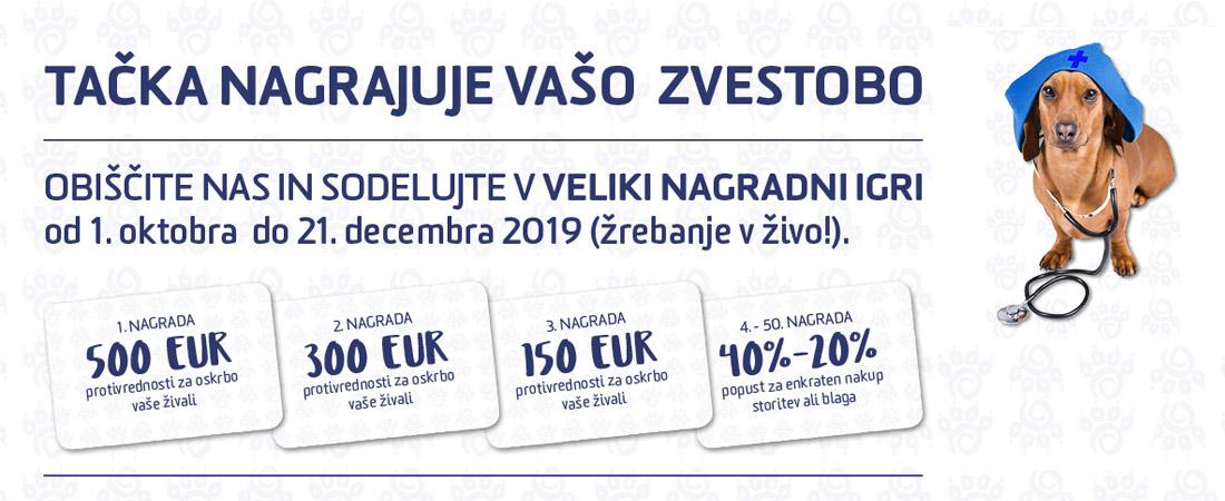 Nagradna igra oktober 2019 - Veterinarska postaja Šmarje pri Jelšah Tačka